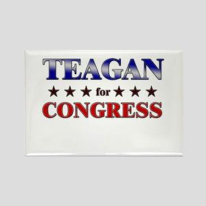 TEAGAN for congress Rectangle Magnet