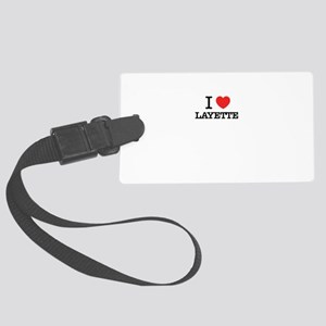 I Love LAYETTE Large Luggage Tag