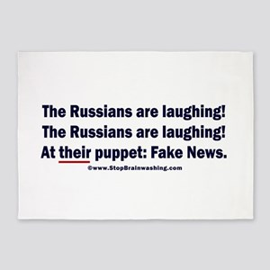 The Russians are laughing! 5'x7'Area Rug