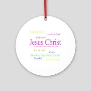 Names of Jesus Ornament (Round)