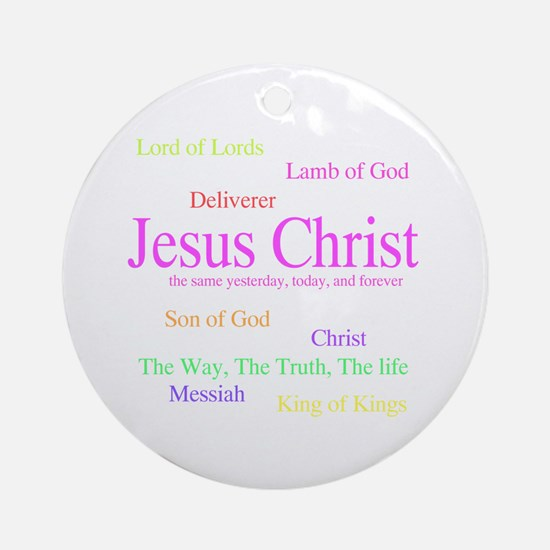 Names of Jesus Ornament (Round)