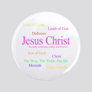 """Names of Jesus 3.5"""" Button"""