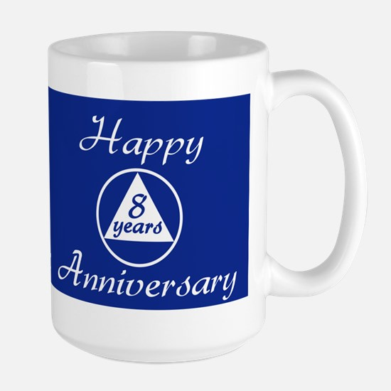 years of gratitude sobriety milestone Large Mug