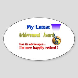 Achievement Award.:-) Oval Sticker