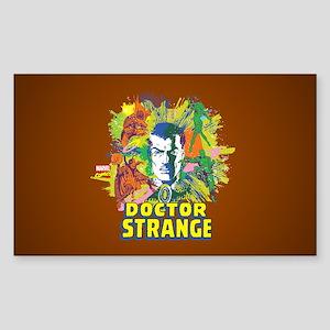 Doctor Strange Villains and Al Sticker (Rectangle)