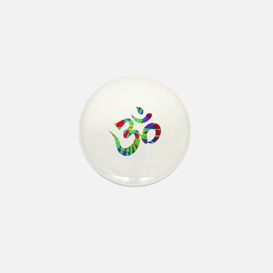 Funny Hippie symbols Mini Button