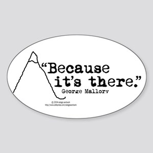 Because it's there Oval Sticker