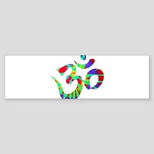 Ohm Symbol Peace Tie Dye Bumper Sticker