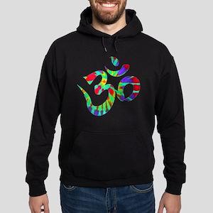 Ohm Symbol Peace Tie Dye Hoodie (dark)