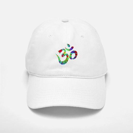 Om Symbol Peace Tie Dye Baseball Baseball Cap