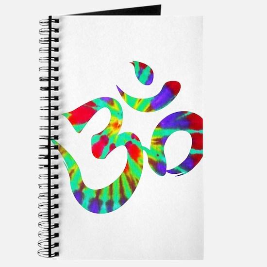 Om Symbol Peace Tie Dye Journal