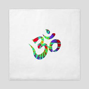 Om Symbol Peace Tie Dye Queen Duvet