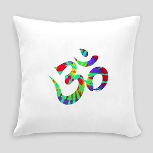 Om Symbol Peace Tie Dye Everyday Pillow