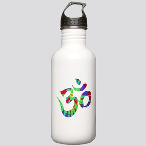Om Symbol Peace Tie Dy Stainless Water Bottle 1.0L