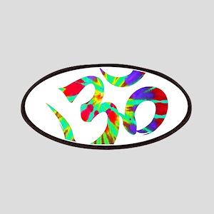 Om Symbol Peace Tie Dye Patch