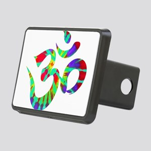 Om Symbol Peace Tie Dye Rectangular Hitch Cover