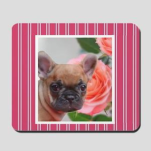 Pink French Bulldog Mousepad