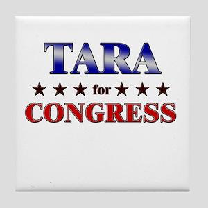 TARA for congress Tile Coaster