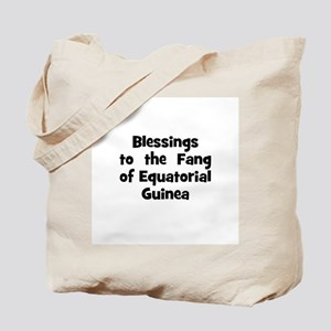 Blessings  to  the  Fang of E Tote Bag