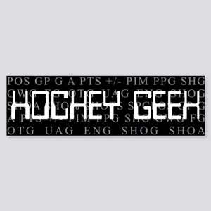Hockey Geek. Bumper Sticker