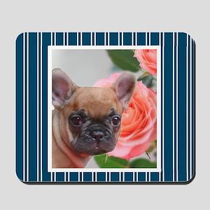 Blue French Bulldog Mousepad