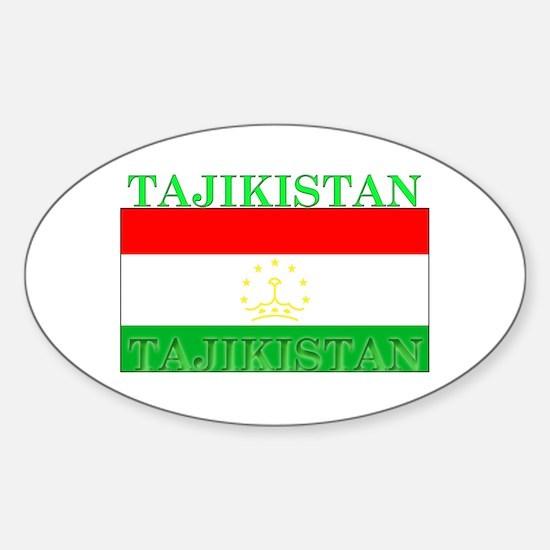 Tajikistan Tajikistani Flag Oval Decal