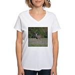 Four Point Buck Women's V-Neck T-Shirt