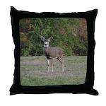 Four Point Buck Throw Pillow