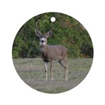 Four Point Buck Ornament (Round)