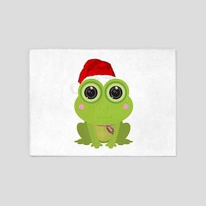 Christmas Frog 5'x7'Area Rug