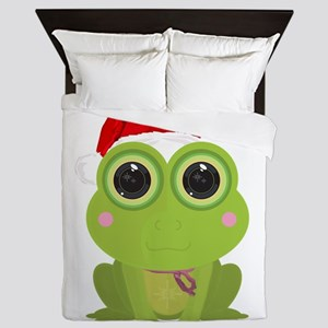 Christmas Frog Queen Duvet