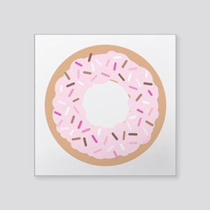 "Pink Sprinkles! Square Sticker 3"" x 3"""