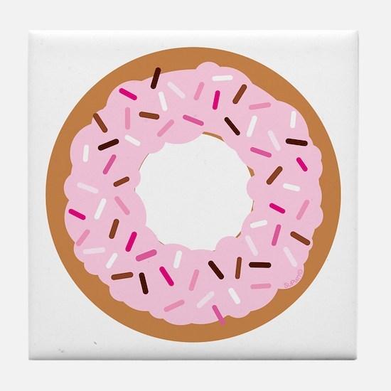 Pink Sprinkles! Tile Coaster