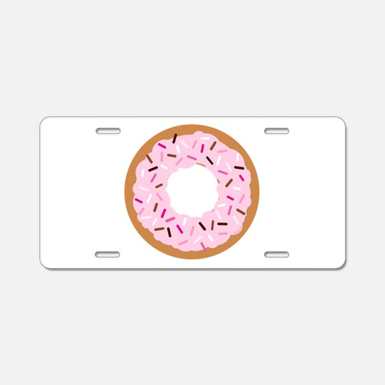 Pink Sprinkles! Aluminum License Plate