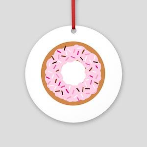 Pink Sprinkles! Round Ornament