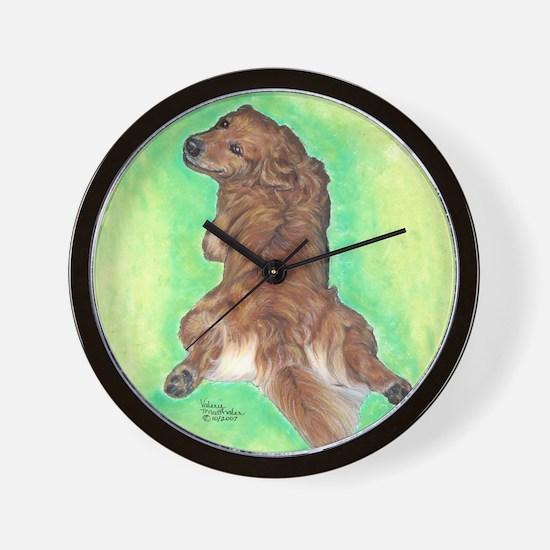 Golden Retriever Frog Dog 2 Wall Clock
