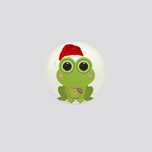 Christmas Frog Mini Button