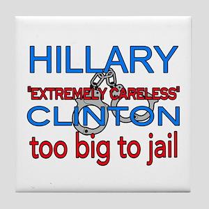 To big to jail Hillary Tile Coaster