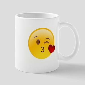 Emoji Kissy Heart Mugs