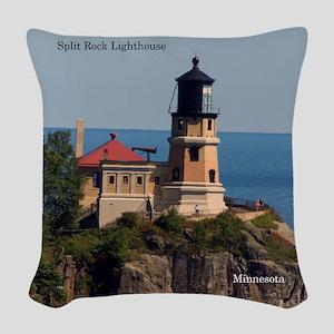 Split Rock Lighthouse Woven Throw Pillow