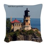 Split Rock Lighthouse Woven Throw Pillow