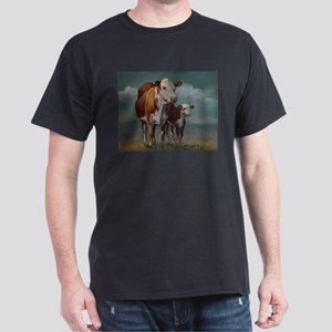 Hereford Cow and Calf in Pasture T-Shirt