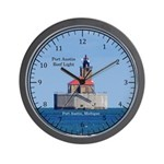 Port Austin Reef Light Wall Clock