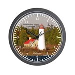 Thunder Bay Island Lighthouse Wall Clock