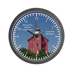 Marquette Harbor Lighthouse Wall Clock