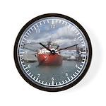 Vessels Unloading Wall Clock