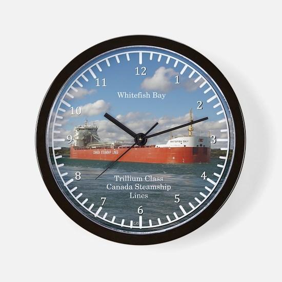 Whitefish Bay Wall Clock