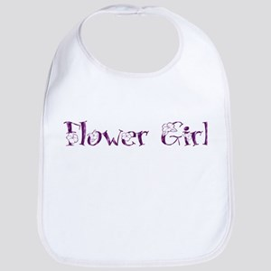 Flower Girl - Purple Blossom Bib