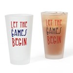 Let the Games Begin (word mug) Drinking Glass