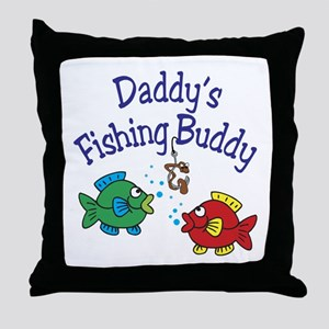 Daddy's Fishing Buddy Throw Pillow